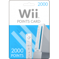 Nintendo Wii Points Card 2000 USA