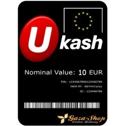 بطاقة يو كاش بقيمة 250 يورو