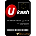 بطاقة يو كاش بقيمة 15 يورو