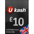 يو كاش - بطاقة 10 جنيه استرليني